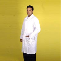 3501202 Knee Length Lab Coats Size 40, White