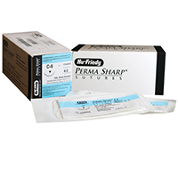 "8433302 Perma Sharp, Black Silk 4-0, C-6, 18"", 12/Box, PSN683S"