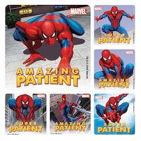3310802 Assorted Stickers Spiderman Super Patient, 100/Roll, PS375