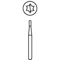 8640112 Midwest Operative Carbides FG 10/Pkg. (1/4 - 333) Taper Flat End, 0.9, 256, 10/Pkg., 389287