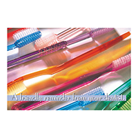 3314212 A Friendly Reminder Postcard Assorted Brushes, Postcard, 250/Pkg.