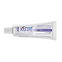 8180312 Crest 3D White Brillance Toothpaste Peppermint, 4.1 oz., 24/Case, 80275418