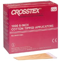 "9328312 Premium Cotton Tipped Applicators 3"", 1000/Pkg, H3C"