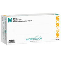 3270022 Micro-Touch Micro-Thin Nitrile PF Gloves Medium, 300/Box, 6034312