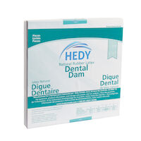 "8970022 Latex Dental Dam 5"" x 5"", Heavy, Green, 52/Box, 310DG-5H"