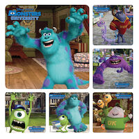 3314122 Disney Stickers Monsters University, 100/Roll, PS543