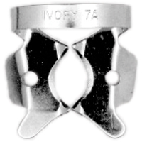 8492522 Ivory Rubber Dam Clamps, Winged 7A, Large Lower, 57330