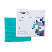 "9508132 Non-Latex Dental Dams 6"" x 6"", Medium, Green, 15/Box"