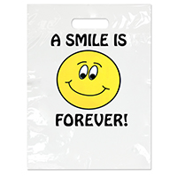 """3310042 Specialty Scatter Bags A Smile is Forever, 9"""" x 13"""", 100/Pkg."""