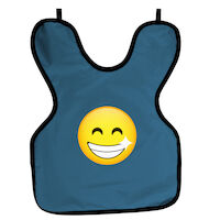 9200042 Cling Shield Child Aprons No Collar, Slate Blue, 22SMILEY