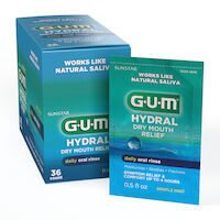 5250242 GUM Hydral Dry Mouth Relief Oral Rinse, 0.5 fl. oz., 36/Box, 1803P