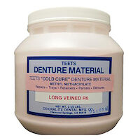 9538342 Teets Denture Powder and Liquid Cold Cure Powder, Long Vein, 2.5 lb., 8203