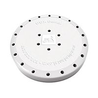 9558542 Round Magnetic Bur Blocks 24-Hole, White, 31007
