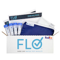 5251052 Flo Water Testing Service Kit 1 Mail-in Test Kit with 6 Specimen Vial & Shipping Label, 90601