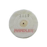 "5251252 Cotton Polishing Buffing Wheels Cotton Buff 3"" 30 PLY 3 Row, 6/Box, B103-303-6"
