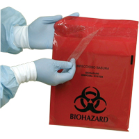 "8700552 Infectious Waste Bags 2.6 Qt., 12"" x 14"", Red, 100/Box"