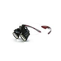 """9900952 Loupes Red Frame, 2.5x Kit, 12""""-15"""" Distance, 1-5001"""