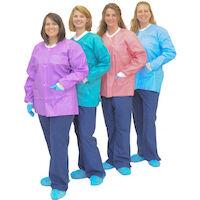 9508062 MedFlex Premium Jackets Large, Pink, D33-18-04, 10/Pkg.