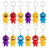 5250262 Emoticon Keychains 12/Pkg. ,JV531
