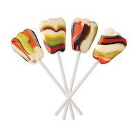 3310662 Dr. John's Healthy Sweets Xylitol Berry Swirl Tooth Shaped Lollipops Berry Swirl Tooth Shaped Lollipops,150/Pkg.,DJC03