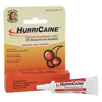 9120962 HurriCaine Gel Gel Tubes, Wild Cherry, 1/8oz, 12/Box, 0871-38