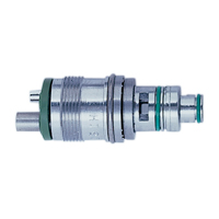 8943962 Titan-T Low-Speed Handpiece System Swivel, Titan Motor 4-Line, Stainless Steel, 260144