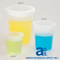 3972972 Beakers Plastic, 600 ml Beaker, B894-4
