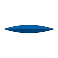 9591082 NTI Silicone Blue Medium Grit Polishers Knife, P0410, 220, Unmounted, Blue, 10/Pkg.