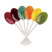 5250282 Dr. John's Healthy Sweets Xylitol Classic Fruit Collection Lollipops  Oval Shape Lollipops  ,150/Pkg.,DJC01