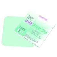 """3410382 Rubber Dams 5"""" x 5"""", Medium, Green, Mint Flavored, 52/Box, 19200"""