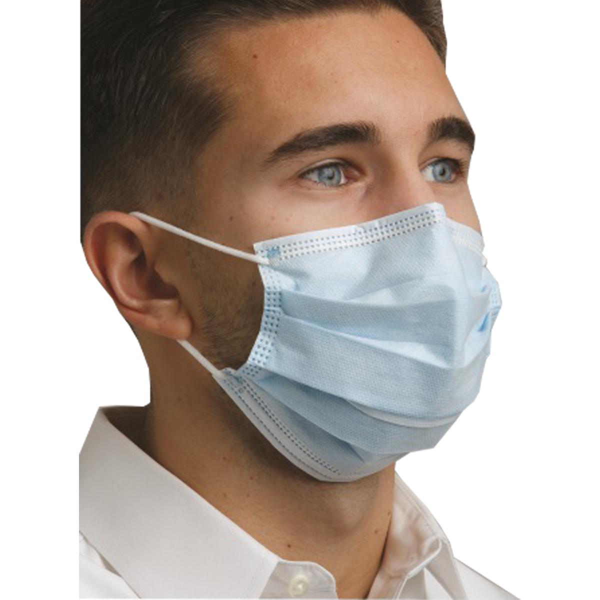 2211582 Defend Level 2 Dual Fit Earloop Masks Blue, 50/Box, MK7200