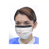 9508092 Ultra 3-in-1 Sensitive Masks with Visor Multicolor, w/Splash Visor, 25/Box, 5673E-PGO