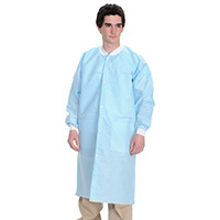 9508192 Extra Safe Lab Coats Large, Sky Blue, 10/Pkg, 3660SBL