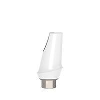 4970292 Esthetic Zirconium Abutment Titanium Base 15° Angulated, 1 mm x 11 mm, AGM-ZRM-151