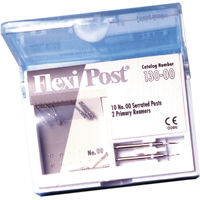 9530592 Flexi-Post Refills and Economy Refills Titanium, Size 00, White, 10/Pkg, 135-00