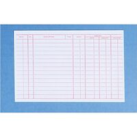 """9518692 Record Cards 4"""" x 6"""" #204C Double-Sided, 100/Pkg."""