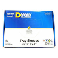 "2211613 Tray Sleeves 10.5"" x 14"", Clear, 500/Box, BF-7000"