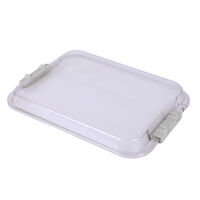 9521713 Procedure Tubs Safe-Loc Tall Tub Cover, Clear, 20Z446