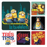 3310813 Assorted Stickers Minions, 100/Roll, PS586