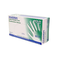 2211023 GOLD Latex Powder Free (PF) Exam Gloves Small,100/Box,Natural White,GLD262