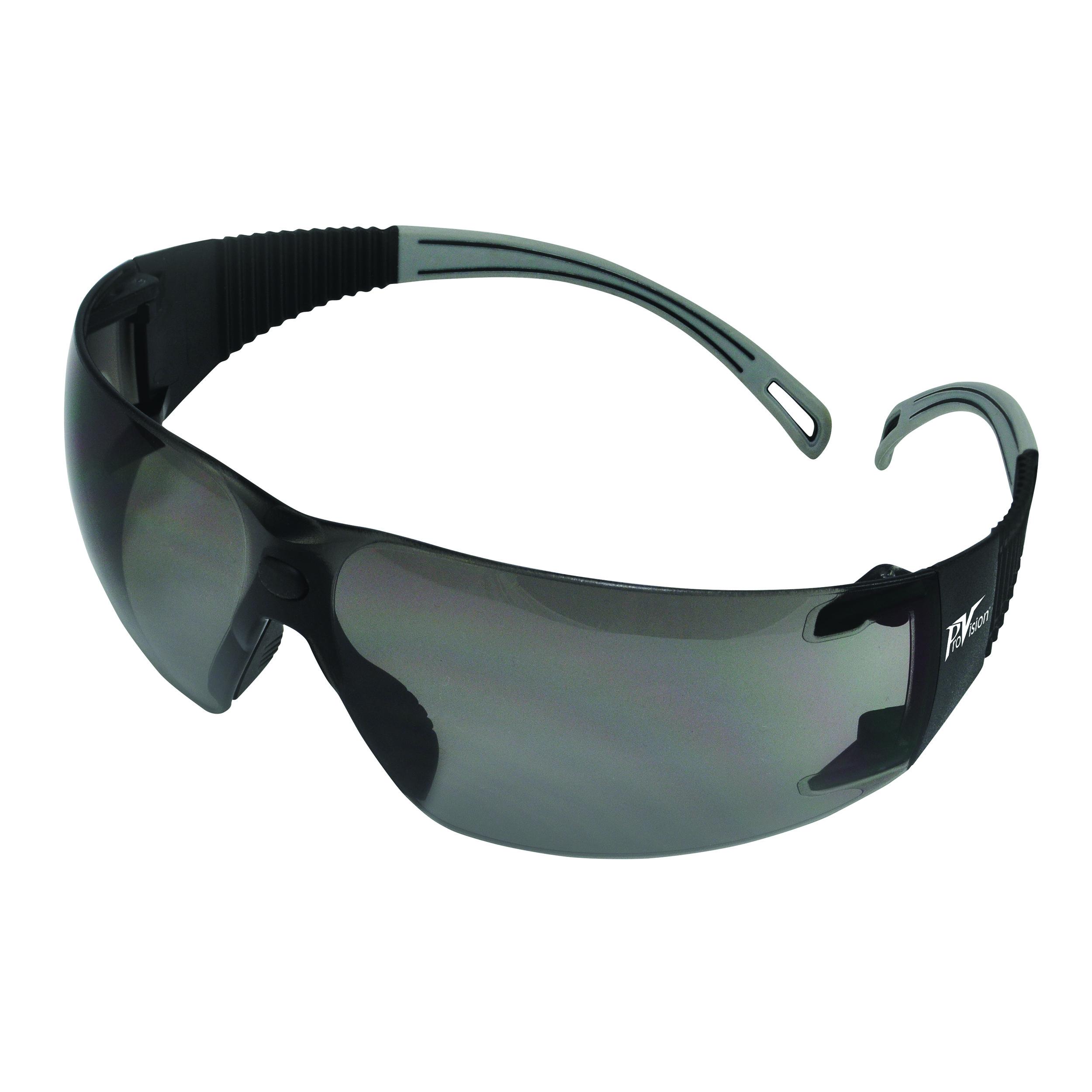 9200123 ProVision Flexiwrap Eyewear Black Frame, Grey Tips, Grey Lens, 3609GG