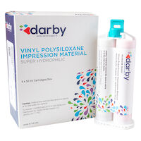 9516323 Vinyl Polysiloxane Impression Material Regular Set, Heavy Body, Unflavored, Rose, 50 ml, 4/Pkg.