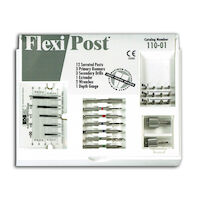 9530523 Flexi-Post Assorted Kits Stainless Steel, Sizes 1-2-3, (Red, Blue, Green), 110-01