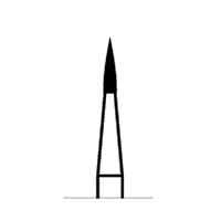 8881723 Robot Carbide FG Finishers 10 Blade, Flame #246, .9 mm Diameter, 3.5 mm Length, 3/Pkg., 0741