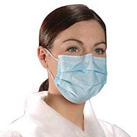 9506143 Critical Cover AlphaAir Masks Blue, 50/Box, 10 Boxes/Case, BL 5005