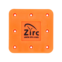 9514553 Magnetic Bur Blocks 8-Hole, Neon Orange, 50Z400Q