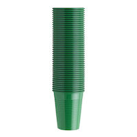 4952063 Monoart Plastic Cups Green, 200 ml, 100/Pkg., 21410013