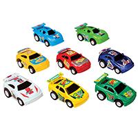 "3310163 Pull-Back Vehicles Super Cars, 2"", 24/Pkg."