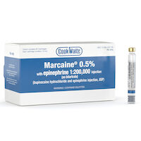 8200963 Cook-Waite Marcaine Marcaine 0.5% with epinephrine 1:200,000, 50/Box, 99184