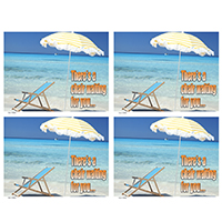 3315083 There's a Chair Waiting for You Postcard Laser Beach Chair Postcard, 200/Pkg., RC0056